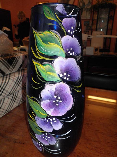 Фото вазы акриловыми красками